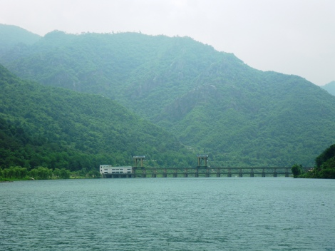 Hydroelectric Dam at Sinpyong, North Pyong'an province, DPRK.