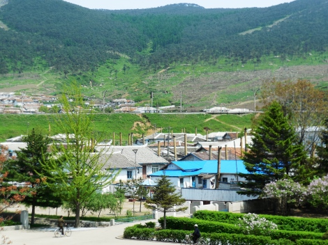 Houses on the outskirts of Sonbong, DPRK.