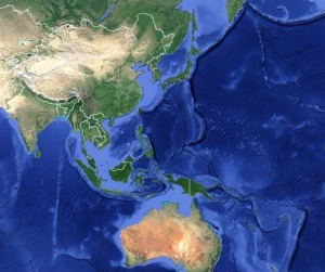 Asia-Pacific Region (image courtesty Google Maps).
