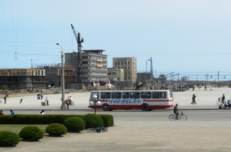 Chongjin electrified trolley bus.