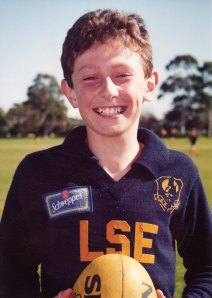 The author as a twelve year old footy phenom (well almost).
