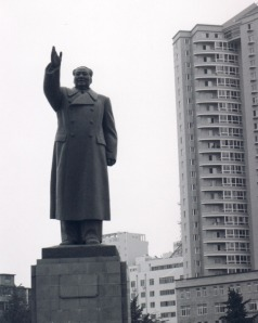 Mao Zedong monument in Dandong, Liaoning Province.