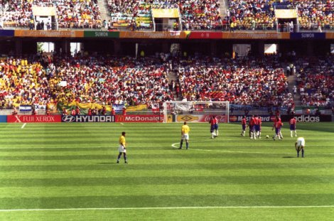 Golden Boot winner Ronaldo at kick-off before Brasil vs Costa Rica, Daejeon