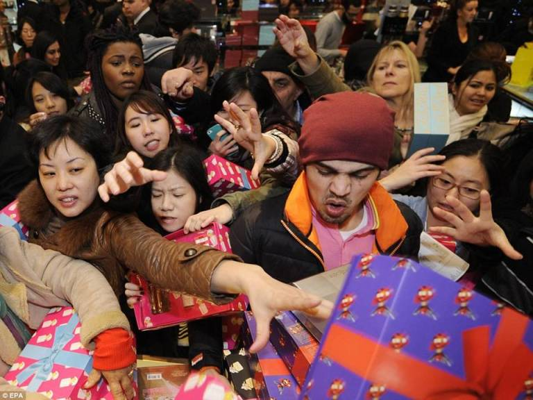 Boxing Day sales insanity.