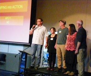 Australia's PNBS team (L-R): Ben Habib, April Sampson-Kelly, Ed Walta, Robin Clayfield and Ian Lillington