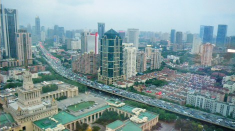 Downtown Shanghai from above