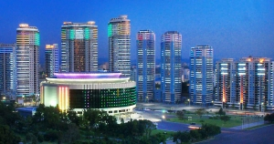 Apartments along Chongjang Street in Pyongyang