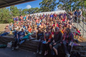 Participants at 2015 Australasian Permaculture Convergence in Penguin, Tasmania.