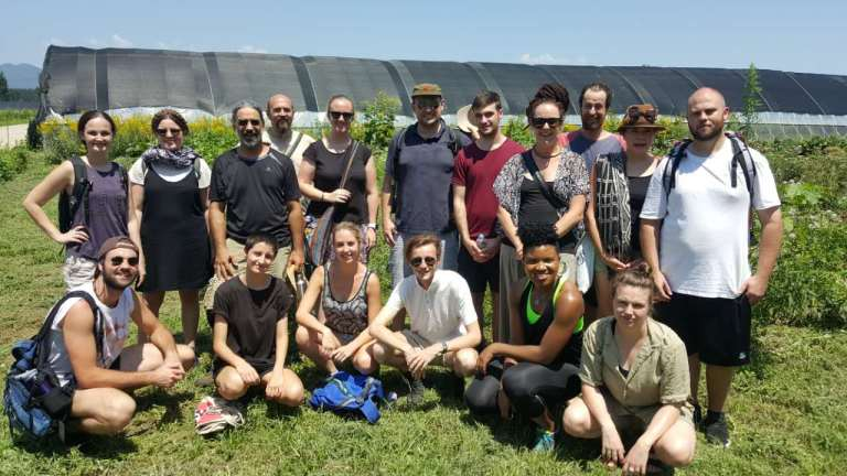 Environment and Sustainability in China Study Tour group photo at the Herb Whisperer farm.
