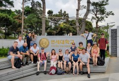 South Korea study tour group at Yonsei University, Seoul.
