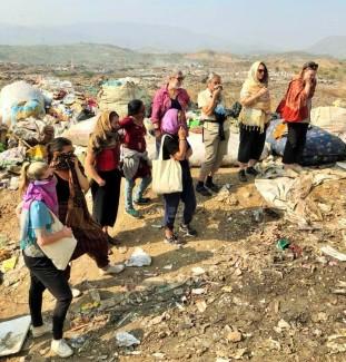 Our group surveys the dump site. Photo: Helen Bucknell.