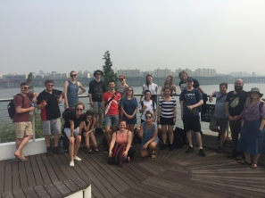 Tour group at the Han River.