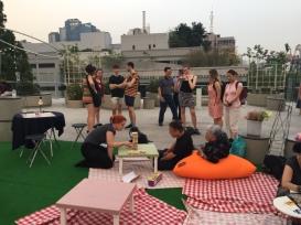 Playing Jenga at Seoullo 7017.