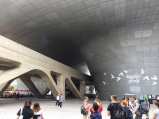 Strolling through Dongdaemun Design Plaza.