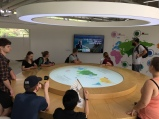 Learning about international climate diplomacy at the Seoul Energy Dream Center.