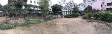 The Shikshantar badminton court.