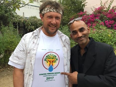 Ben Habib with Shikshantar community participant Sourav.