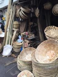 Basket weavers shop.