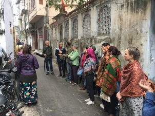 CERES Global team exploring another alleyway.