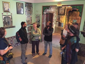 Engrossed in the history of Vishal's family home.