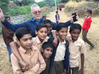 Chris meeting some young men. Photo: Ben Habib.