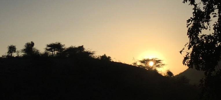 A Swaraj University sunrise.