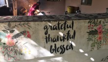 A reminder for gratitude in the dining area.