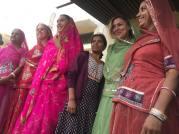 Trying on sarees. Photo: Sela Vai.